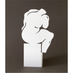 Sculpture le Penseur  | White