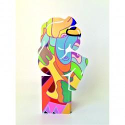 Sculpture le Penseur | Colored