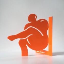 Lui  | Orange - Ht 23cm
